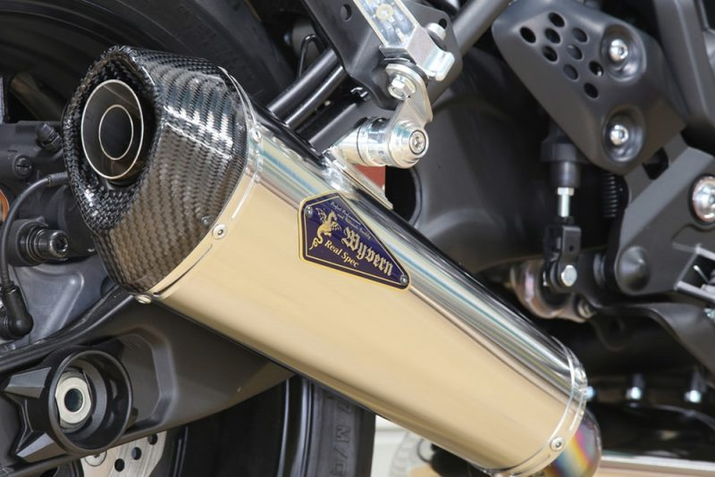 XSR700 チタンサイレンサー装着車