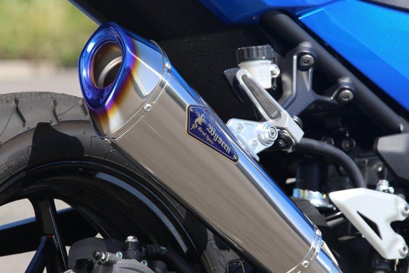 Slip-On Type R チタンポリッシュサイレンサー装着車両