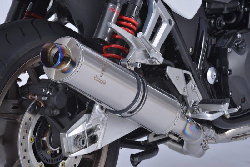 18〜 CB1300SF/SB Single Type チタンポリッシュサイレンサー装着車両